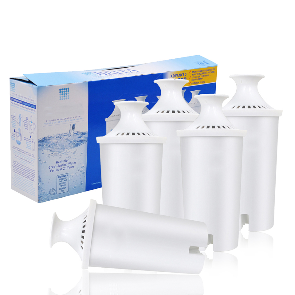 Hot! Household Purify Kettle Direct Drinking Water <font><b>Filter</b></font> Activated Carbon <font><b>Replacement</b></font> for <font><b>Brita</b></font> Water <font><b>Pitcher</b></font> <font><b>Filter</b></font> 5 Pcs/lot
