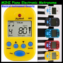 M50 Professionelle Generische Clip-on LCD Display Gitarre Piano Tuner Metronom Hintergrundbeleuchtung Digital Metronom für Gitarre Klavier