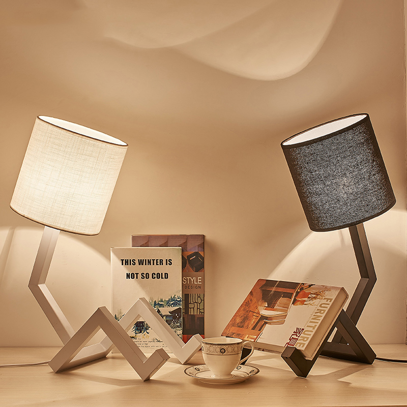 Designer Novelty Table Lamp Study End Table Lights Decorative Lamp Iron Art Lamp Body Fabric Lampshade Kitchen Fixture LuminariaDesigner Novelty Table Lamp Study End Table Lights Decorative Lamp Iron Art Lamp Body Fabric Lampshade Kitchen Fixture Luminaria