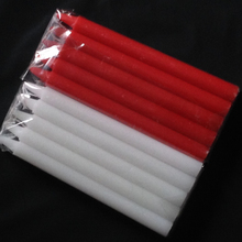 10pcs Decorative Wax Candles Red and White Candle Lighting Candles Romantic Smokeless Long Rod Wedding Party Birthday Candle
