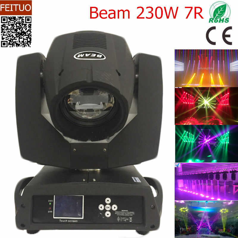 No Custom Tax 230W Shary Beam 230w 7r Moving Head Light Zoom Wash Spot Gobo Beam Light 7r 230 Stage Disco Lighting