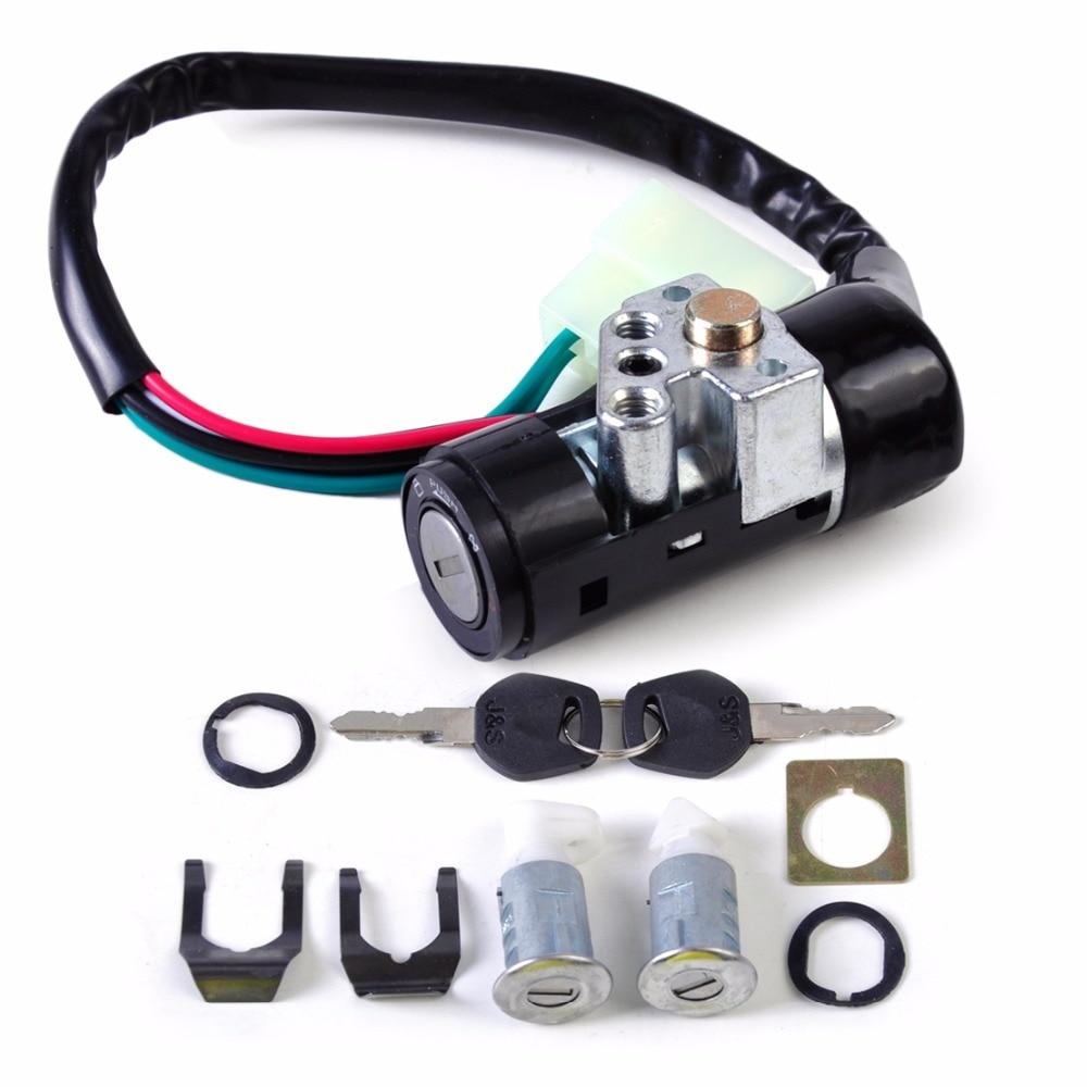 Dwcx Motorcycle 5 Wire Ignition Switch Key Lock Toolbox