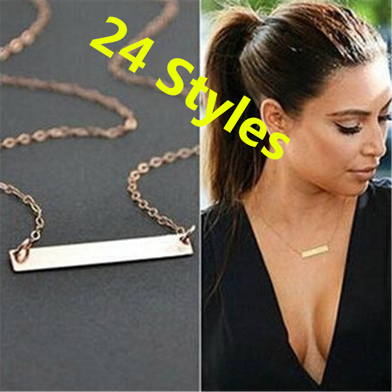 25 Models NEW European Style Simple Necklace Teen Gold Choker Necklace Femme Fashion Statement Necklace For