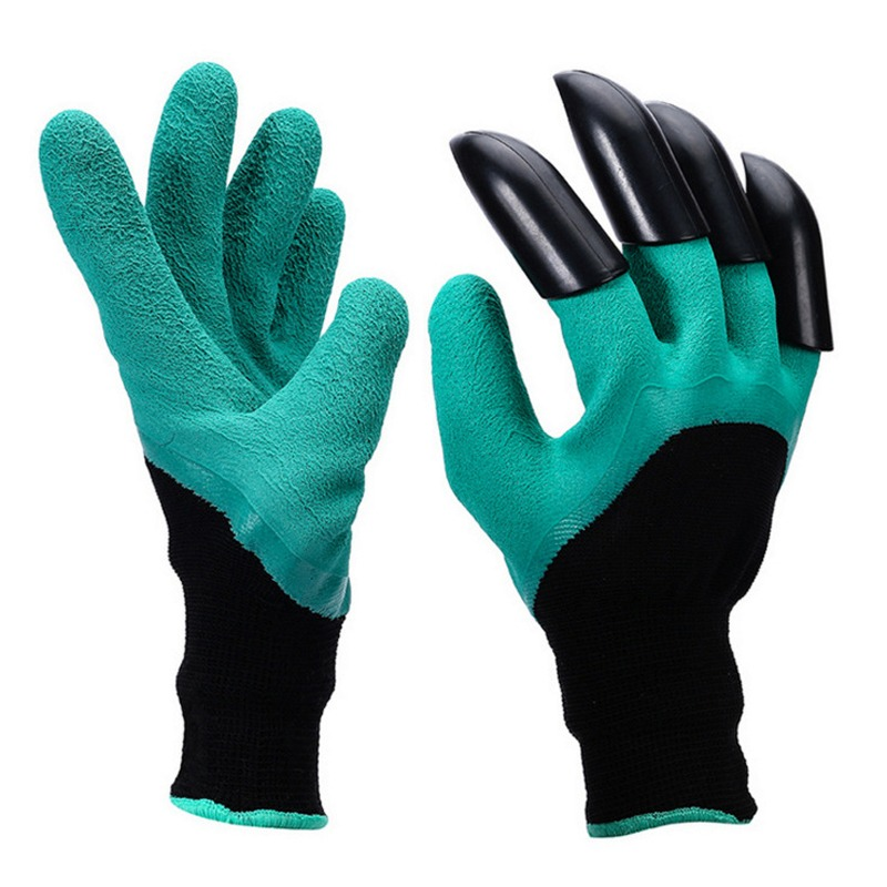 Garden Tools Garden Gloves 4 Hand Claw Abs Plastic Rubber Gloves Quick Excavation Plant Waterproof Insulation Home Living Essential Gadgets Reputation First Protective Gears