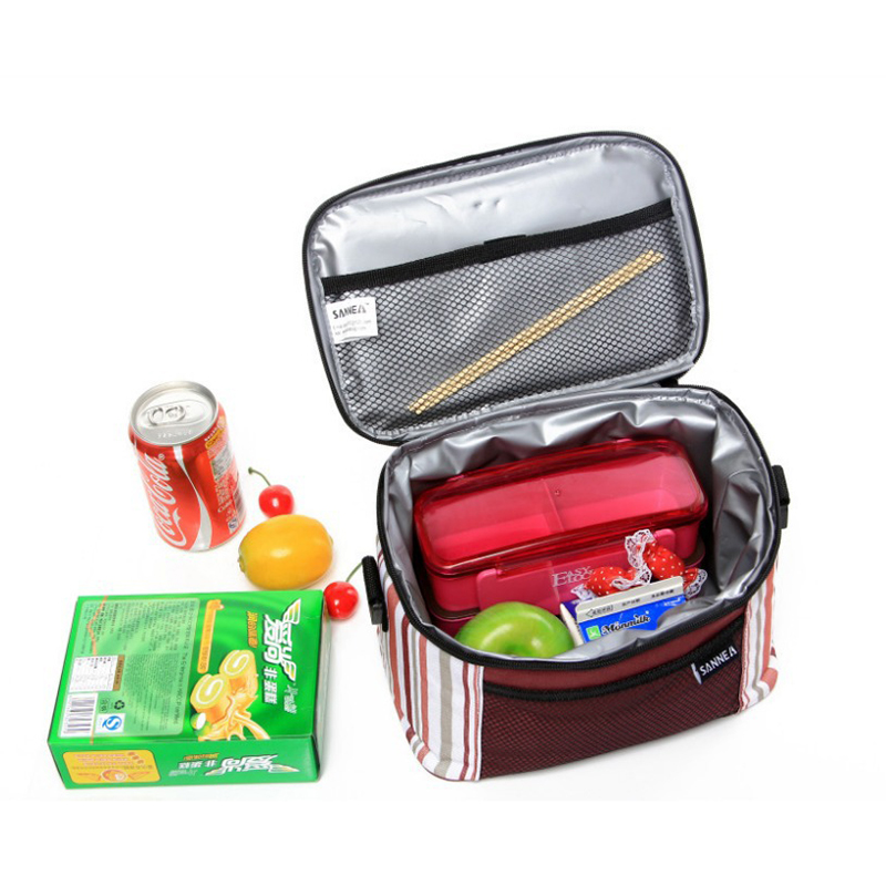 Baby Thermos Bag Large <font><b>Cooler</b></font> Lunch Box Insulation Handbag Thicker Polyester Foil Thermal Outdoor Picnic Bags Warm Baby Care