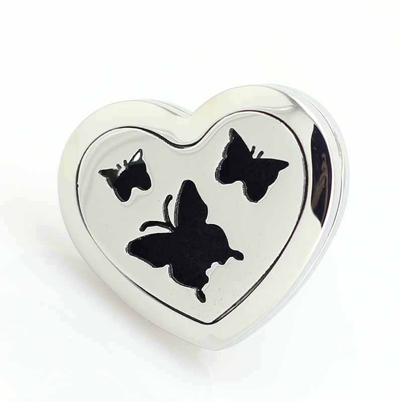 Heart shaped Magnetic Stainless Steel Car Diffuser Locket Aromatherapy Essential Oil Car Diffuser Locket Free Pads in Pendants from Jewelry Accessories
