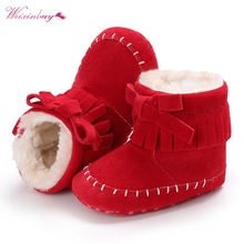 Baby First Walker Shoes Winter Booties Kids Shoes Girls Boys Bow Knot Baby Boots Newborn Cotton Toddler Warm Winter Snow Shoes newborn baby girl soft boot winter shoes baby first walker non slip crib boots kids infant girls warm winter snow shoes boots