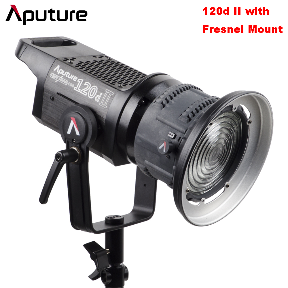 Aputure LS C120d II 120d II + Fresnel Mount DMX Control 5 Lighting Effects TLCI/CRI 96+ 5500k Studio Continuous Lighting V-mount aputure ls c300d cri 95 tlci 96 48000 lux 0 5m color temperature 5500k for filmmakers 2 4g remote aputure light dome mini page 6