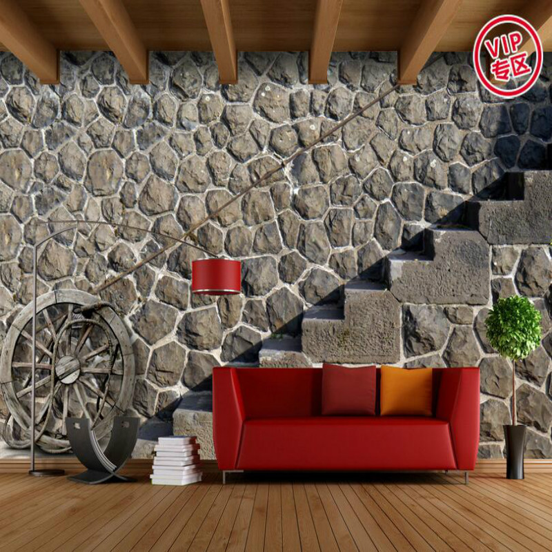3D Wallpaper for Walls 3d Decorative Wall Paper Background Painting Retro Nostalgia Brick Wall Mural Wallpapers Home Improvement home improvement decorative painting wallpaper for walls living room 3d non woven silk wallpapers 3d wall paper retro flowers