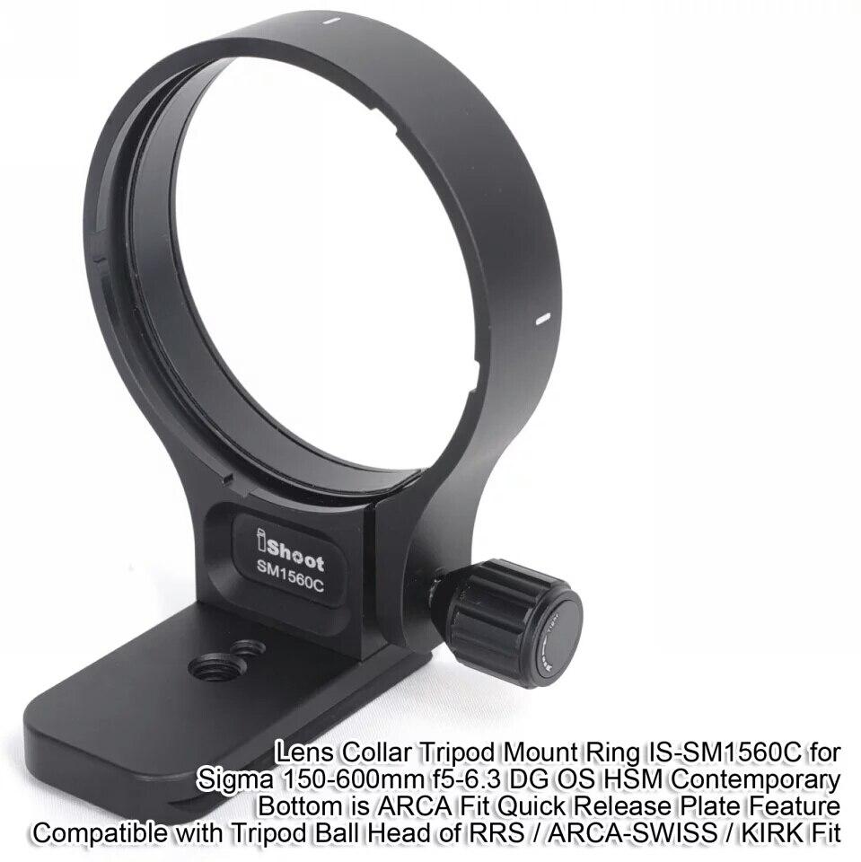 Объектив воротником Поддержка кольцо для крепления к штативу для Sigma 150-600 мм f5-6.3 DG OS HSM современные дно ARCA fit Quick Release Plate