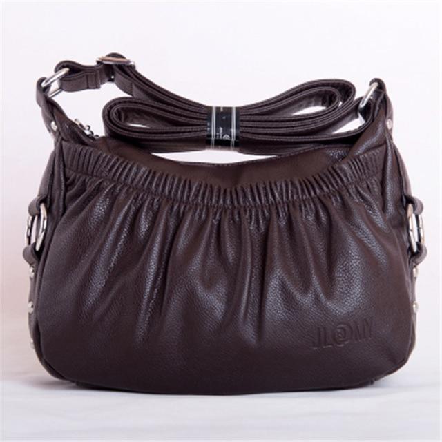 Bolso de Cuero Genuino de las mujeres Venta Caliente de La Alta Calidad Ocasional Hobos Bolsas de Hombro Mujeres Messenger bags