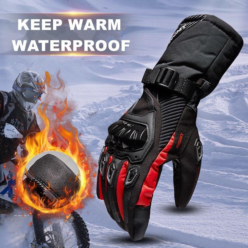 Freies verschiffen SUOMY Winter warm motorradhandschuhe 100% Wasserdicht winddicht Guantes Moto Luvas Touchscreen Motosiklet Eldiveni