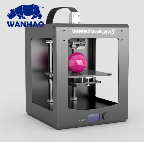 2019! Impressora WANHAO Nova 3D D6 PLUS (Duplicador 6) uso doméstico industrial com alta precisão | velocidade de impressão rápida e de Alta precisão