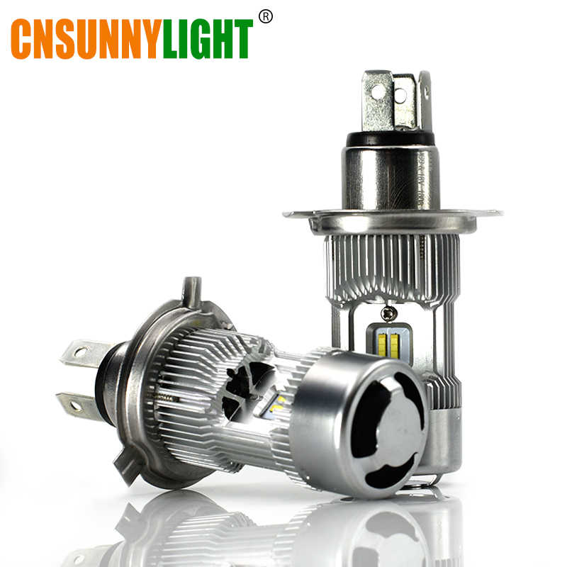 CNSUNNYLIGHT H4 LED HB2 9003 5200Lm/Lamp Car Headlight Bulb High Low Dual Bi-Beam 6000K White Turbo Fan Canbus 12V 24V Car Light