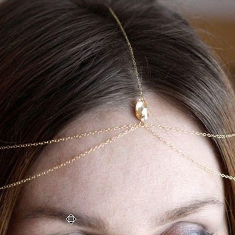 2020 Wedding Hair Accessories Fashion Jewelry Gold Silver Bijoux De Tete Mariage Bridal Headband Crystal Head Chain For Women