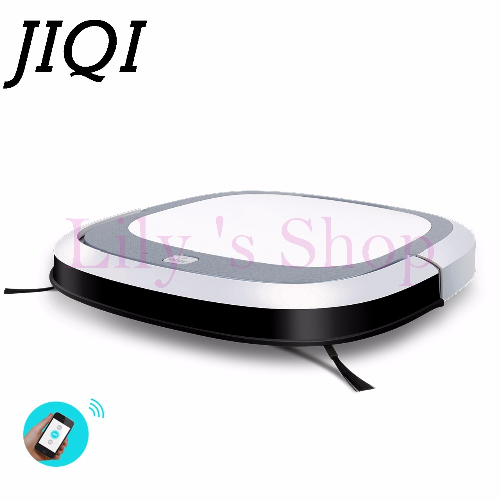JIQI Intelligent Robot Vacuum Cleaner Slim HEPA Filter Cliff Sensor Remote control Self-Charge wet mopping sweeper Dust catcher eworld m884 mop robot vacuum cleaner for home hepa filter sensor remote control self charge robot electric sweeper