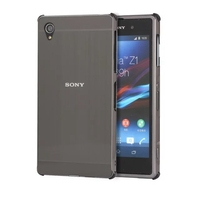 Luxury Shockproof Aluminum Bumper For Sony Xperia Z1 Z2 Case Brushed Metal Hard PC Back Cover