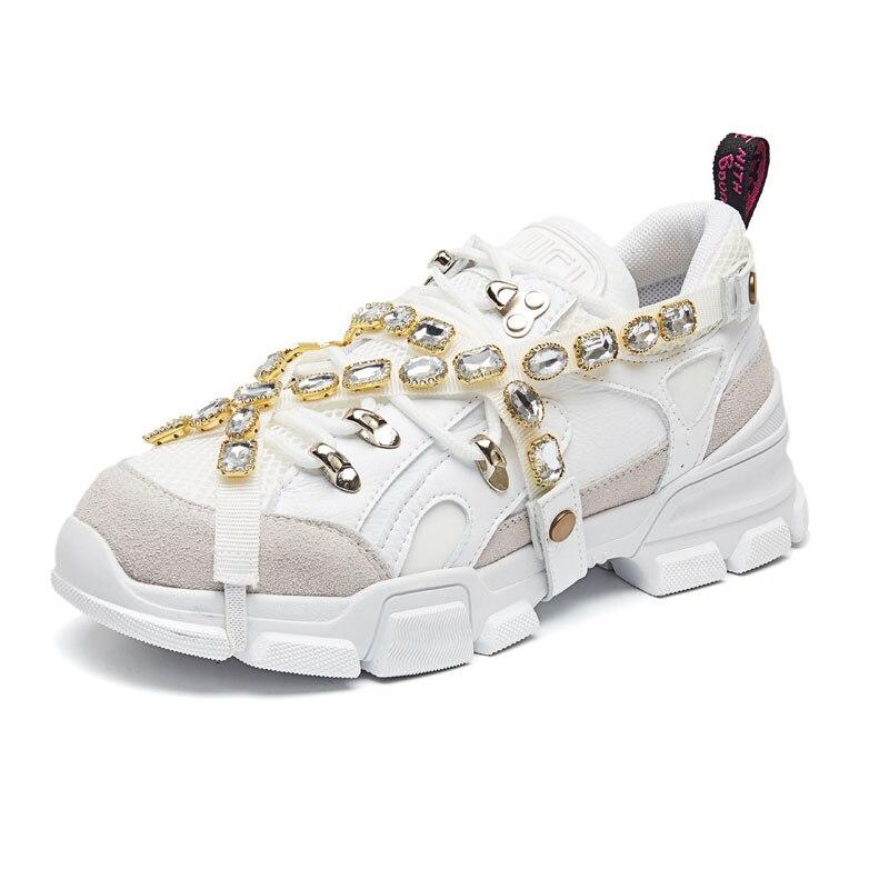 Décor as 2019 Mode attaché Patchwork Plates Espadrilles Luxe Show Femmes Lacets Croix As Pour Ins Décontractées Strass Mujer À Femme Zapatos De Show Chaussures 8wvm0NnO