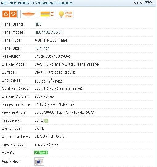 NL6448BC33-74 10,4 hüvelykes ipari LCD, új és A + Grade raktáron, - Játékok és tartozékok