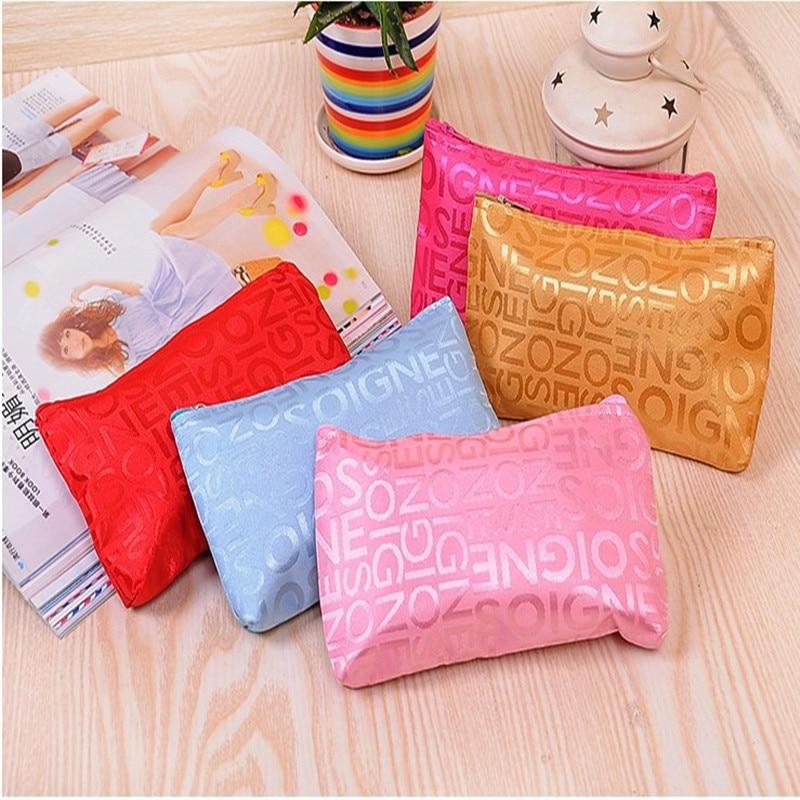 2016 Portable Letter Makeup bag Korean Female Multifunction Cosmetic Bag Women Toiletry Organizer Holder Travel Necessary