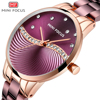 MINI FOCUS Women's Fashion Lady Stainless Steel Strap Waterproof Quartz-Watches
