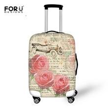 FORUDESIGNS Fundas protectoras de equipaje Vintage moda Rosa impresión Floral cubierta de lluvia de polvo aplicable a 18-30 pulgadas maleta de viaje bolsas