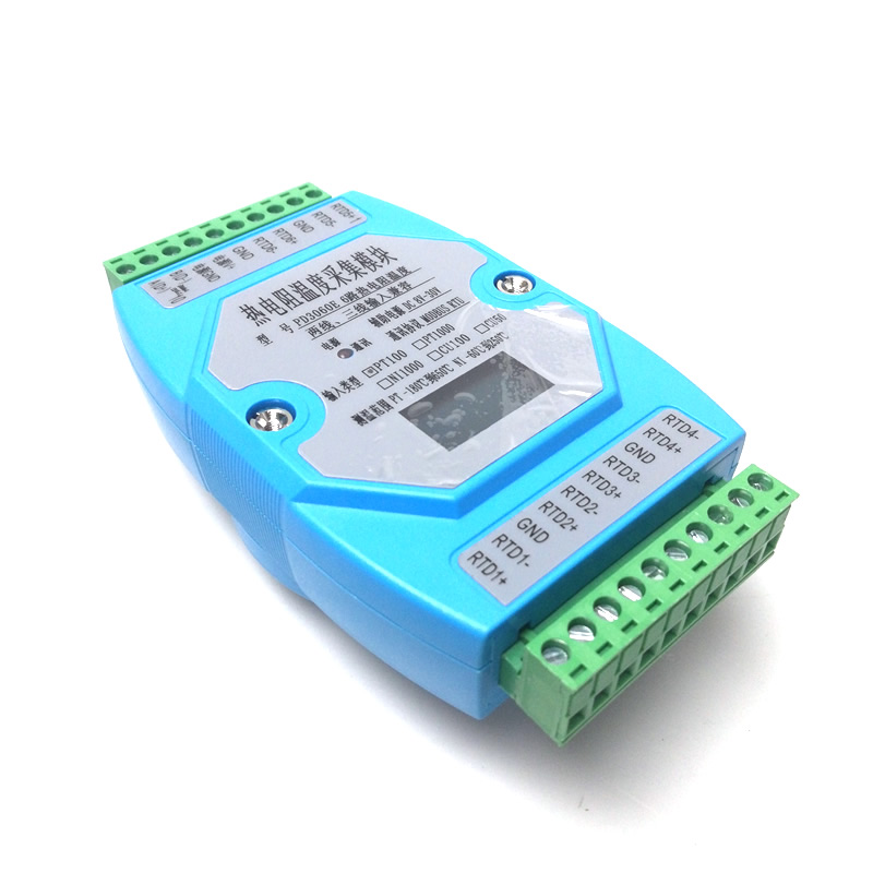 6 way OLED PT100 PT1000 temperature acquisition module temperature transmitter MODBUS RTU-in Connectors from Lights & Lighting    1