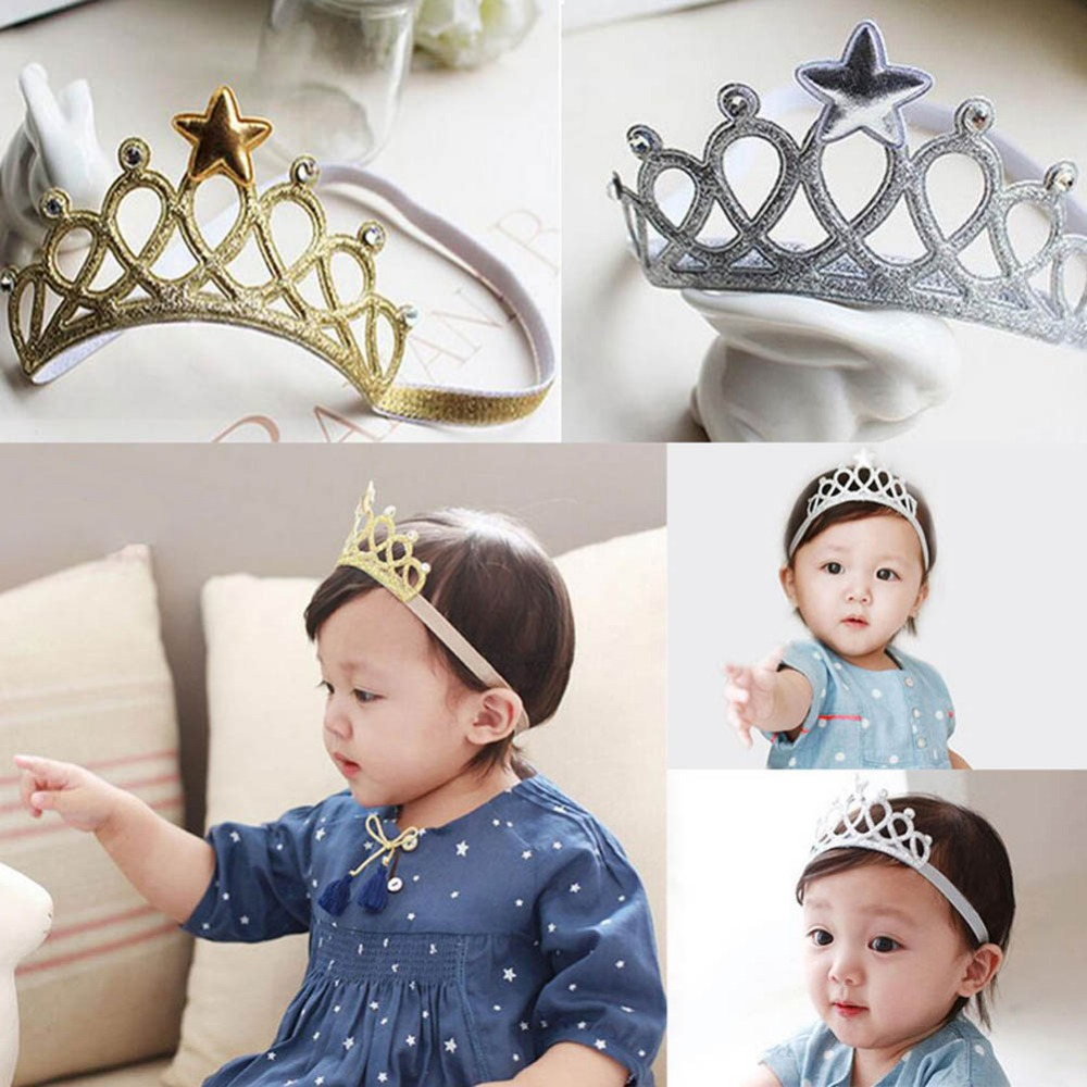 2018 Kids Baby Bebe Girl Children Crown Birthday Party Headband Hair Accessories Gift Hair Band Hair Bands Headbands 100pcs lot fluorescence colored hair band holders rubber bands elastics hair accessories girl women hair ties gum page 6