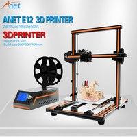 Anet E10 E12 3D Printer Aluminum Frame High Precision Desktop 3D Printer Kits Reprap DIY Kit