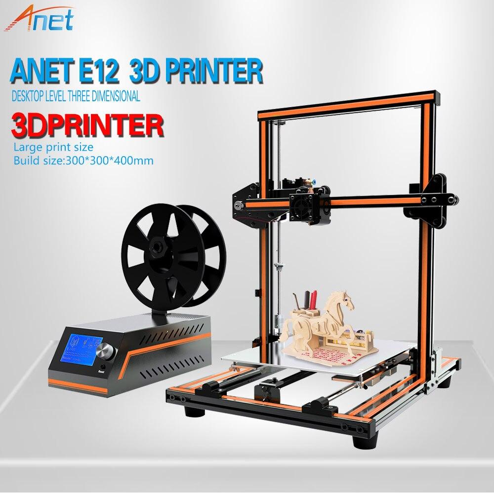 Anet E10 E12 3D Printer Aluminum Frame High precision Desktop 3D Printer Kits Reprap DIY Kit Set Off-line Printing Large Size elecfreaks 3d printer ramps reprap exaltation kit