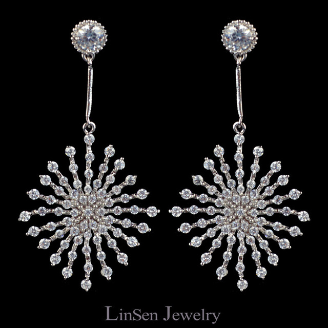 Sparkling Clear Aaa Cubic Zirconia Earrings For Women High Quality Cz Jewelry From Linsen