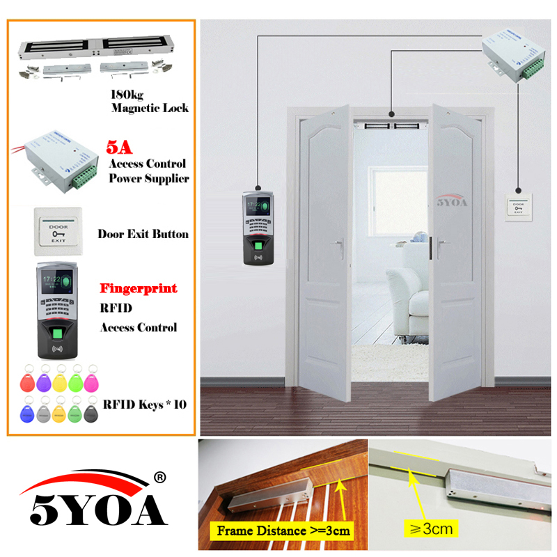 Fingerprint Rfid Access Control System Smart Door Lock Safe Kit