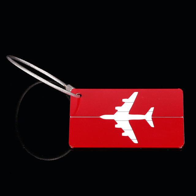 OKOKC Aluminium Alloy Luggage Tags Baggage Name Tags Suitcase Address Label Holder Travel Accessories 2