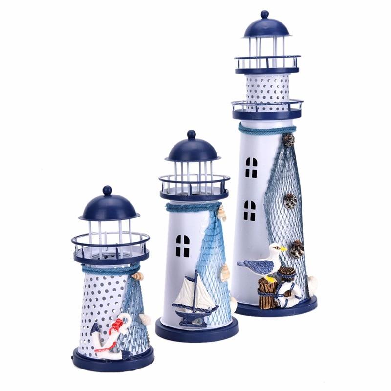 Decorating Items: Mediterranean Style Home Decor Led Lighthouse Iron Wedding