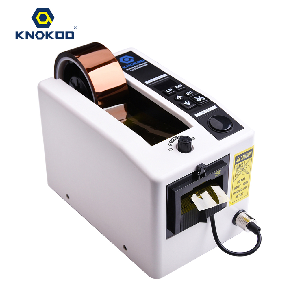 KNOKOO ELectronic Automatic Packing Adhesive Tape Dispenser M1000 Auto Tape Cutter Machine with Memory Function