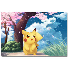 NICOLESHENTING Pokemon XY Anime Game Art Silk Poster 12x18 24x36 inches Pocket Monster Pikachu Wall Picture 008(China)