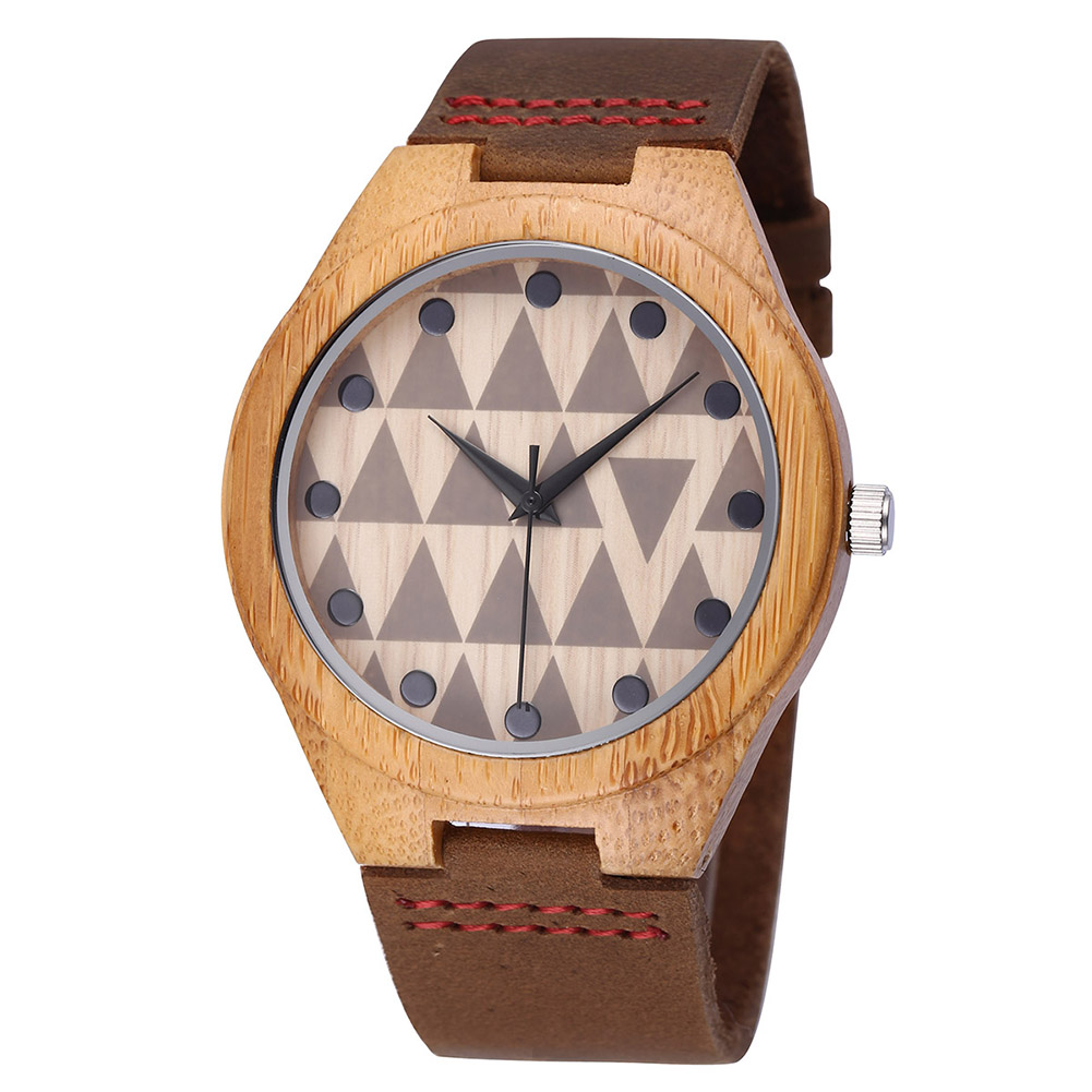 Women's Watches Watch Men  Leather Strap Fashion Wooden Couple Gifts Bamboo Quartz  I Love You Clock 3772
