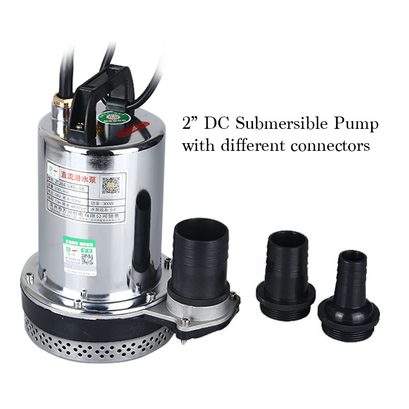 DC 60V Agricultural Water Suction Pump Electrical Submersible Water Pump 2 Inches Caliber 7m Power line