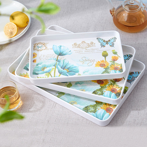 Melamine Serving Trays Plastic storageTrays for Party ,Food