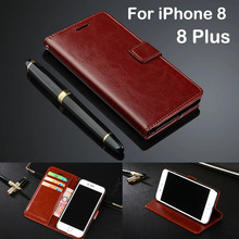 Wholesale Cover Original Phone Case For iPhone 8 Case Luxury Leather Wallet Flip Cover Ultra Thin Card Holder For iPhone 8 Plus цена