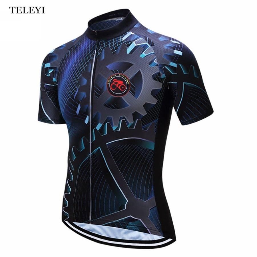 Prix pour Hot! TELEYI Hommes Cyclisme Jersey/Vélo À Manches Courtes Vêtements de Cyclisme Vêtements Sommets des Montagnes