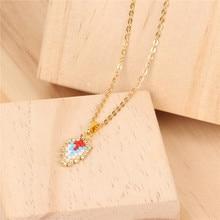 Trendy Leaves Cross Charm Necklace MUYIKI Glass Beads Handmade Choker Necklaces Female Friendship Love Wedding Jewelry Bijoux