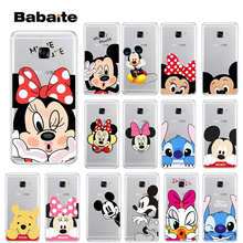 Babaite Mickey Minnie Stitch love TPU Soft Silicone Transparent Phone Case for Samsung S9 Plus S8 S8plus S7 S6 S5