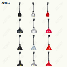 O175 250W Electric Retractable Cord Food Heating Ceiling Lamp/ Food Warming Pendent Hanging light for Restaurant Kitchen Buffet dz 2 warming lamp 2 head lamp hotel buffet professional heating machine