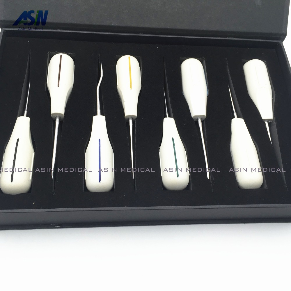 2016 8PCS/kit Minimally invasive dental elevator Very minimally invasive tooth extraction tooth quite invasive Asin dental root fragment minimally invasive tooth extraction forcep toothdental instrument curved maxillary and mandibular teeth