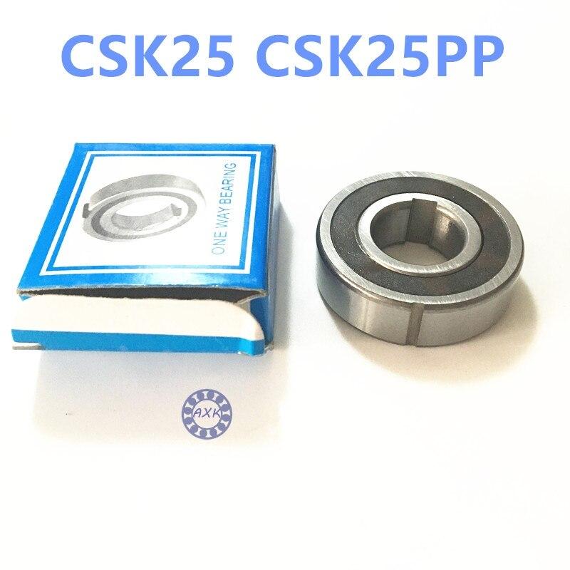 Free shipping 2pcs 6205 CSK25 CSK25PP BB25 one way clutch bearing 25x52x15 printer/Washing machine/printing machinery two groove  цена и фото