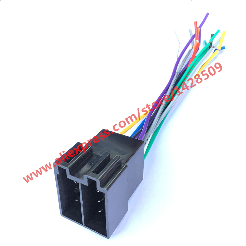 universal wiring harness 10 pin connector universal wiring harness for engine 10 set universal female iso radio wire wiring harness ...