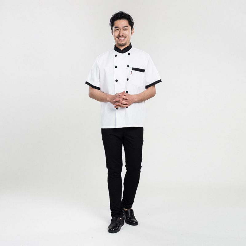 Wholesales Le Chef Clothing Chef Whites Uniforms Unique Hotel Restaurant Kitchen Short Cook Jackets For Men and Women