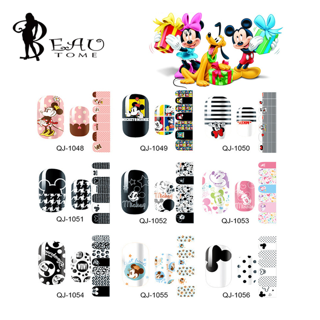 Fabuleux Beautome 1 Pc Nail Art Autocollant Mickey Minnie Imprimer Nail  VD45