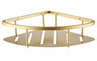 Free shipping Stainless Steel PVD Ti Golden Bathroom Shelf Bracket Shelves basket shower Corner Storage Caddy BS001